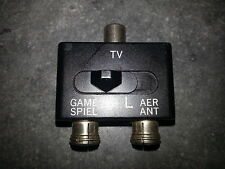 RF TV Splitter Switch Box Aerial / Antenna NES  SNES  N64  Nintendo 64