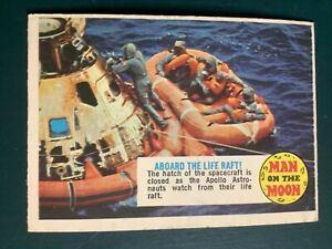 Topps 1970 Man on the Moon #74 Apollo astronauts on life raft EX/Nr MT condition