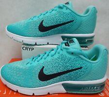 New Womens 9 NIKE Air Max Sequent 2 Aurora Turbo Green Run Shoes $100 852465-300