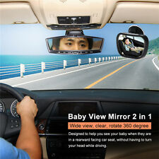 Baby Rear Ward Safety View Mirror Back Car Seat Cover for Infant Child Toddler