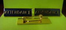 ATTENDANCE Metal Badges Pins Blue Enamel Buy 3 for $5