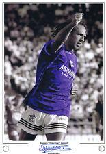 Mark Hateley Signed Rangers Print 16x12 COA EPS Photo