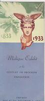 #MISC-0035 - 1933/1934 CHICAGO WORLDS FAIR BROCHURE - MICHIGAN EXHIBIT