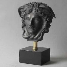 Medusa  Head Greek Art Home Decor Bust Statue Sculpture-Gray Finish