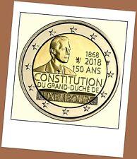 2 Euro Gedenkmünze Luxemburg 2018 - 150 Jahre Luxemburger Verfassung -