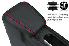 RED STITCHING REAL LEATHER ARMREST COVER FITS VW GOLF MK3 VENTO JETTA 1991-98
