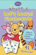 Winnie the Pooh Lets Learn Flashcards Disney Numbers Colours Animals Actions New