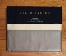 RALPH LAUREN~QUEEN FLAT SHEET~HATHERSAGE~EMILIA~BLUE/CREAM MSRP$145~NWT