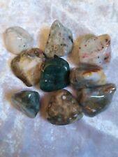 9 Steine Ocean Jaspis Ozean Achat Ozeanchalcedon Wassersteine Trommelsteine100g
