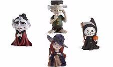 Lenox Halloween Witch Vampire Frankenstein Reaper Figurine Set 4 Spooky Town New