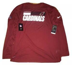 2 Nike Arizona Cardinals NFL Team On Field Long Sleeve Red & White Shirt 4XL $80