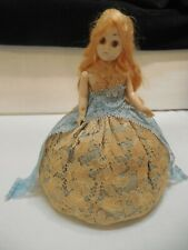 Doll Pin Cushion in a Wide Lace Skirt
