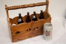 Bierträger Flaschenkorb Flaschenträger Bierkiste aus Holz Handarbeit Bierkiste