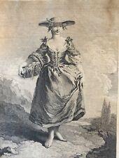 François Boucher Paysanne environs de Ferrare graveur Edme Jeaurat  1688–1738