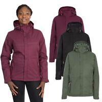 DLX Womens Rain Jacket Waterproof Ladies Padded Coat With Hood XXS-XXL
