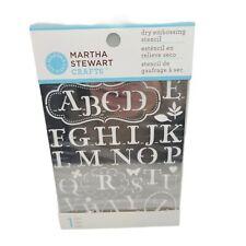 Martha Stewart Crafts Dry Embossing Stencil Traditional Alphabet Letter 42-03006