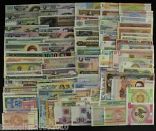 LOT OF 100 DIFFERENT UNC BANK NOTES FROM 50 COUNTRIES # L100