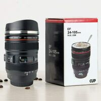 Camera Lens Coffee Mug Photography Design Stainless Steel Travel Mugs Food Grade