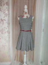 Rayon Striped Dresses Midi