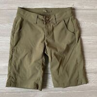 Prana olive stretch outdoor Shorts Womens Size 0