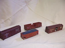 LOT HO SCALE FREIGHT CAR PIECES SOLD AS-IS Union Pacific Milwaukee road olympian