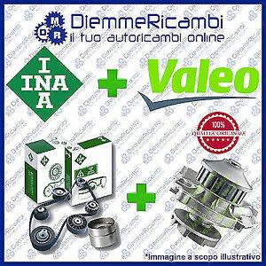 KIT DISTRIBUZIONE INA + POMPA ACQUA VALEO LANCIA Y 10 1.0 FIRE 4X4  85-> 95