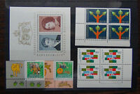 Liechtenstein 1967 Royal Wedding M/S Tecnical Block x 4 EFTA 1997 Europa MNH