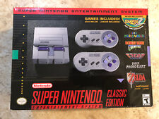 Super Nintendo Entertainment System - Classic Edition SNES New 21 Games Save