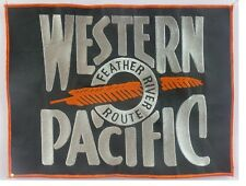 """Western Pacific """"Feather River Route"""" 75 1-E/9935 #52-B price is 1 patch"""