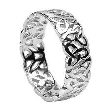 Irish 14K White Gold Trinity Knot Wedding Ring Band SIZE 7 Boru