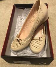 Reduced -  Pierre Cardin Size 6 Beige Shoe BRAND NEW