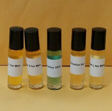5 pcs CLIVE CHRISTIAN Perfume Body Oil COLLECTION 1/3 oz Roll-on NO 1 X, L, 1872