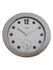jvd hc07.1 Reloj De Pared Cuarzo Análogo METAL CON CRISTAL REDONDA EN PLATA