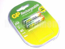 GP Rechargeable AAA LR3 750 NiMH Battery x2