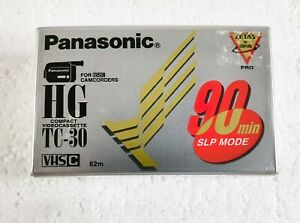 Panasonic HG Compact Videocassette TC-30 90 Min. SLP Mode For VHS Camcorders