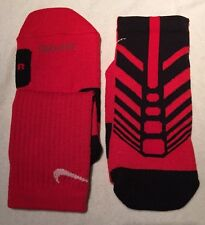 New Rare Nike Elite Sequalizer Red Basketball Socks Size Small 4-6 Y S