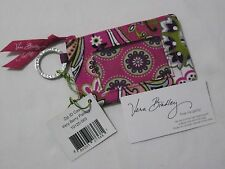 Vera Bradley VERY BERRY PAISLEY Zip ID Coin KEY Case For LANYARD Purse TOTE  NWT