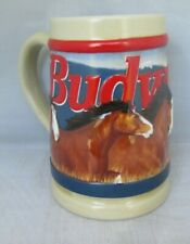 Budweiser Proud and Free 1993 Beer Stein Clydesdales