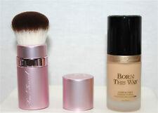Too Faced Born This Way Foundation in Mocha, 1 fl oz & Kabuki Retractable Brush