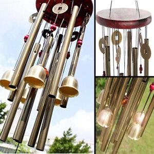 NEU Windspiel 10 Klangröhren Klangspiel  Natur Windharfe Haus Garten Deko DHL