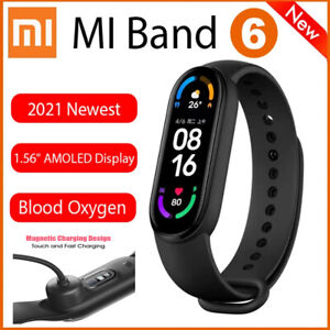 Xiaomi MI Band 6 Smartwatch BT5.0 Fitness 5ATM Heart Rate Blood Pressure Monitor