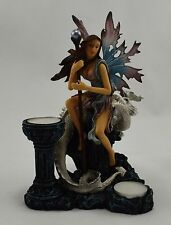 Beautiful Gothic Fantasy Elf/Fairy/Pixie and Dragon Tealight Candle Holder NEW!