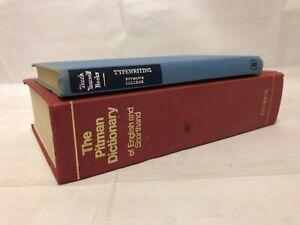 2x Vintage Pitman Books Teach Yourself Typewriting  & The Pitman Dictionary