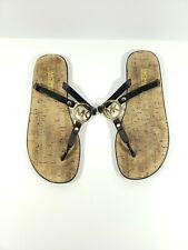 MICHAEL KORS MK Charm Black Jelly Flip Flop Sandals - Size 8 S2