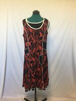 Quelque dress red black and white size 12 Womens