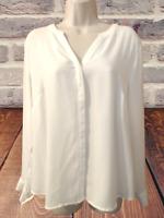 Apt. 9 Women's Blouse Size L Long Sleeve V-Neck Pullover Top
