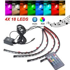 72 LED 4PCS Car Interior Atmosphere Neon Lights Strip Music Control & IR Remote