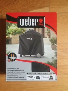 Weber Premium Grill Cover 7184 Q2000/3000 Series Black