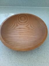 Hand Turned American White Ash Bowl diameter 11 1/2""