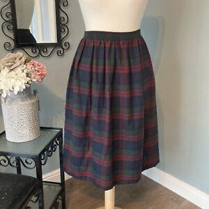 Cute Tartan Plaid Flare Knee Length Short Skirt One Size 8 10 12 14 16 18 20